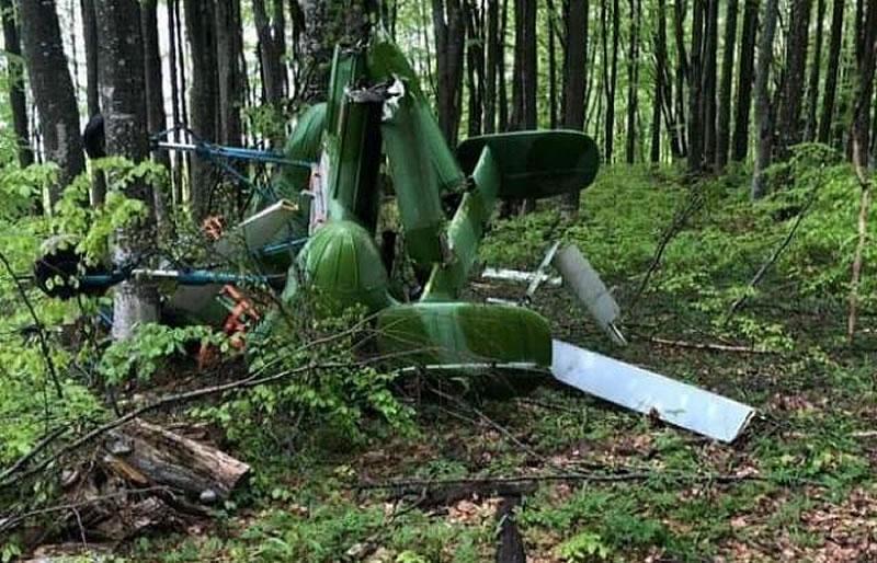 На украинско-румынской границе упал вертолет