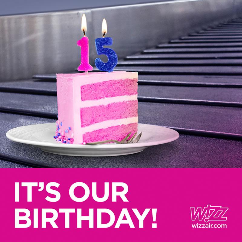 WIZZ AIR объявила об акции по случаю Дня рождения