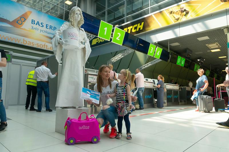 """Аэропорт """"Киев"""" встретил миллионного с начала года пассажира"""