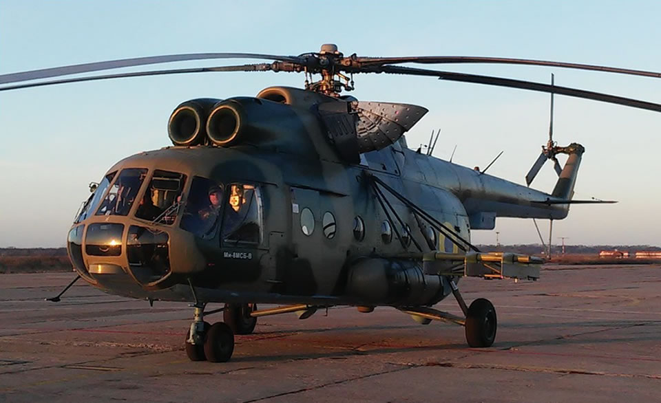 Продолжаются госиспытания Ми-8МСБ-В с комплексом ПТРК «Барьер»