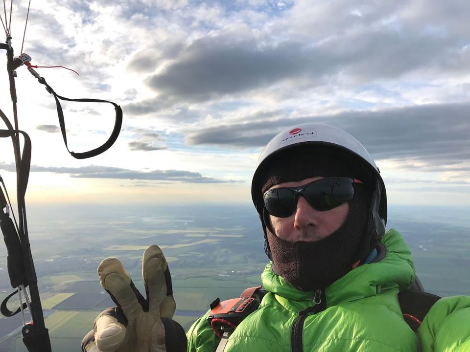 Рекордный перелет на параплане - 350 километров