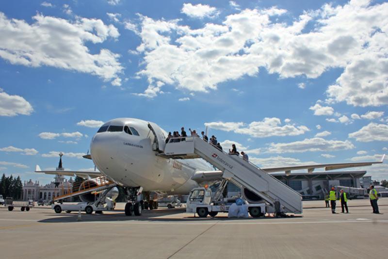 Аэропорт Харьков снова обслуживает широкофюзеляжные самолеты