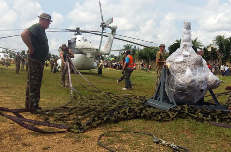 Замена редуктора в джунглях для украинских вертолетчиков вопрос решаемый