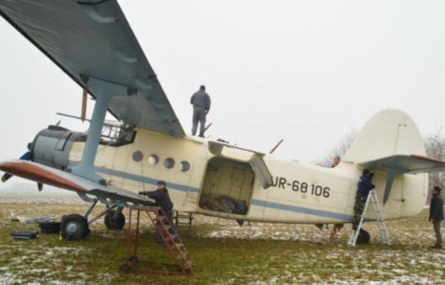 В Венгрии на аукцион выставили украинский самолет АН-2, на котором перевозили нелегалов