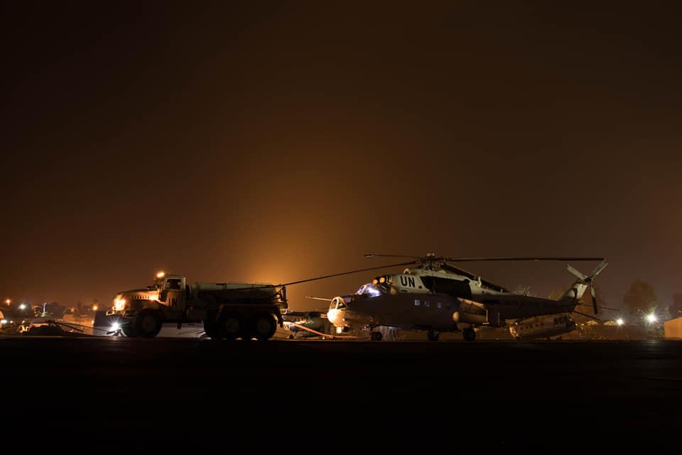 Летчики новой ротации в Конго приступили к ночным полетам