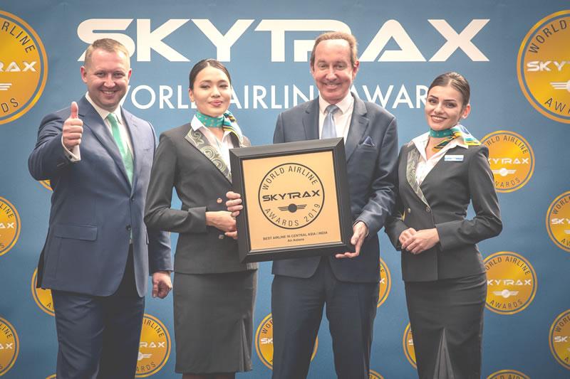 «Эйр Астана» в 8-й раз стала лучшей авиакомпанией Центральной Азии и Индии