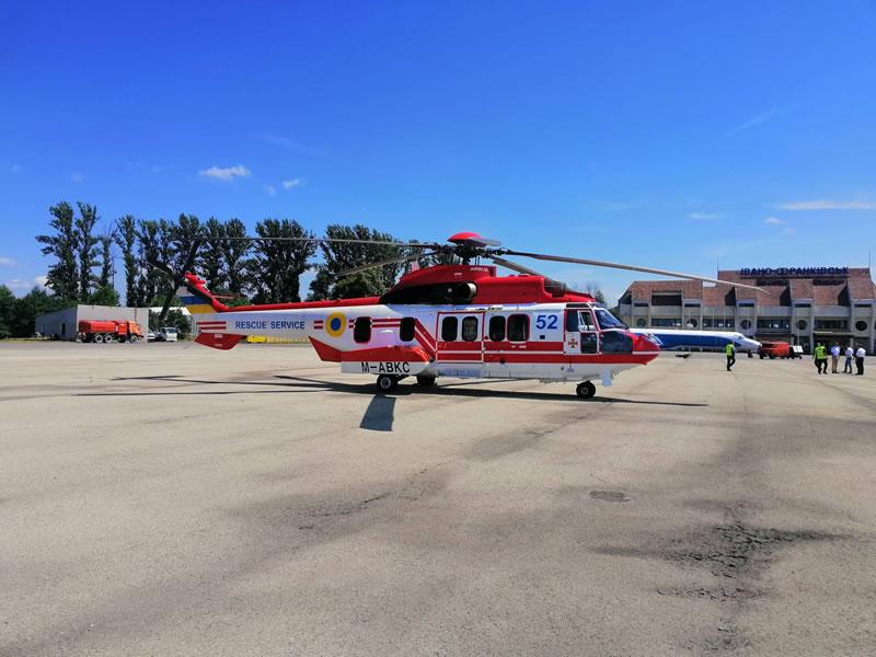 Очередной H225 ГСЧС прилетел в Украину