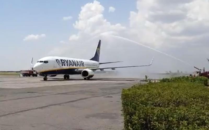 В Одессе встретили первый рейс Ryanair