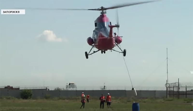 Пилоты вертолетов совершенствуют мастерство в Запорожье