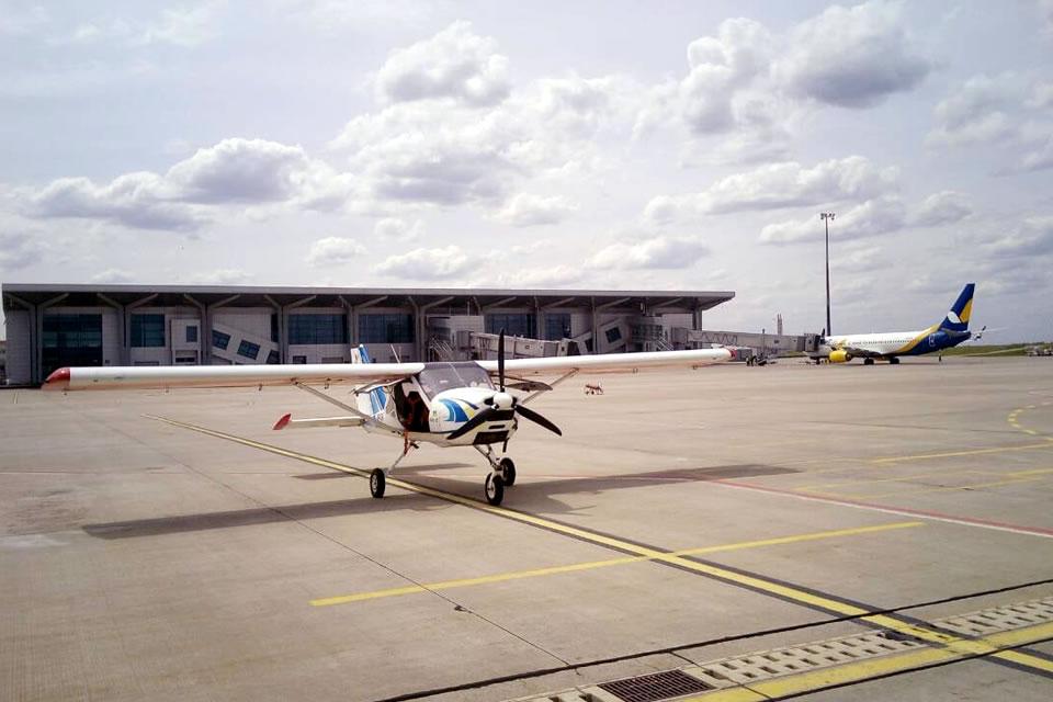Слушатели курса PPL Харьковского аэроклуба выполнили полет в международные аэропорты