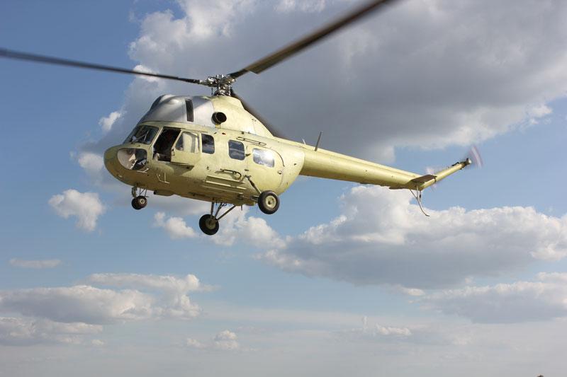 Первый раз в украинском небе вертолет Ми-2МСБ