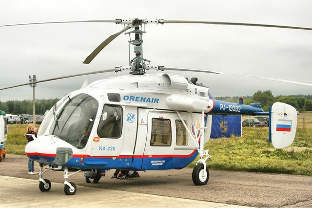 Вертолет Ка-226, состоящий на службе в областной клинической больнице в Оренбурге