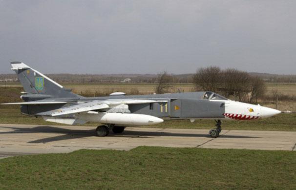 Су-24МР - 300 километров на одном двигателе