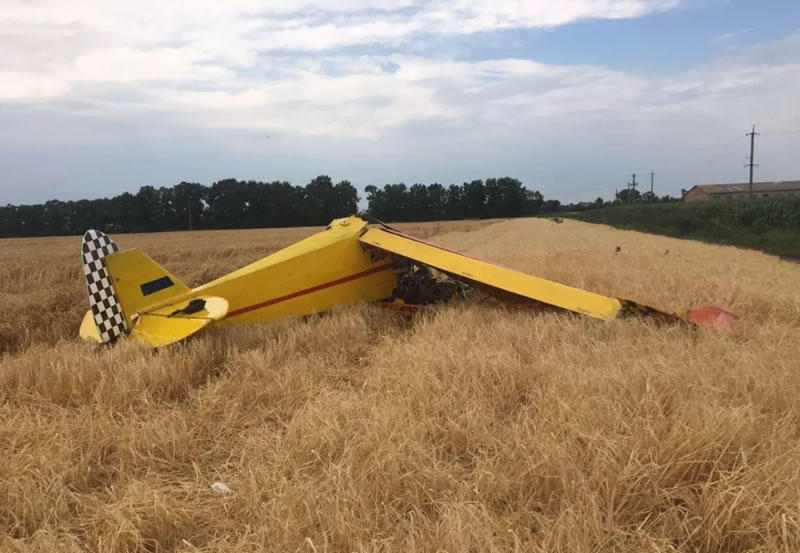 В Полтавской области разбился легкомоторный самолет