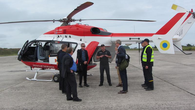 Специальный авиационный отряд ГСЧС Украины с рабочим визитом посетила американская делегация