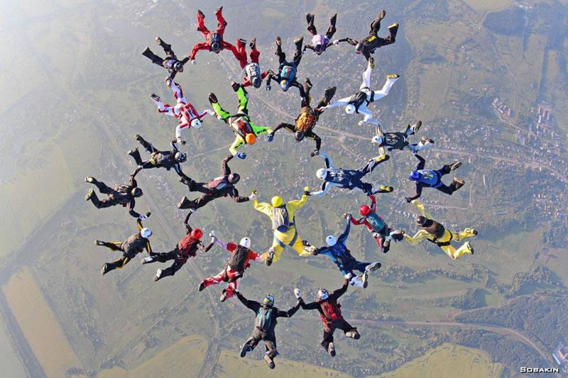 На харьковском аэродроме «Коротич» был установлен национальный парашютный рекорд