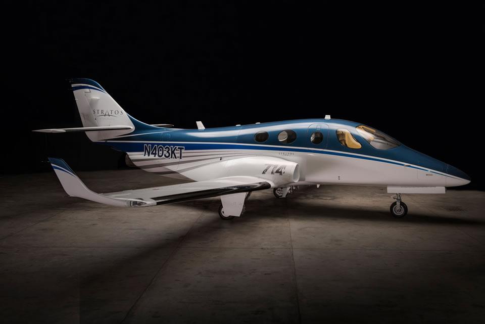 Stratos 714, компании Stratos Aircraft,  с которой также сотрудничает Novans Jets под руководством Юрия Грингуза