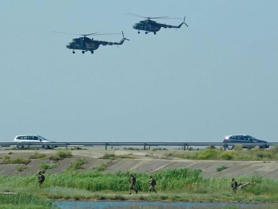 При участии армейской авиации на Херсонщине отработали контрдиверсионные мероприятия