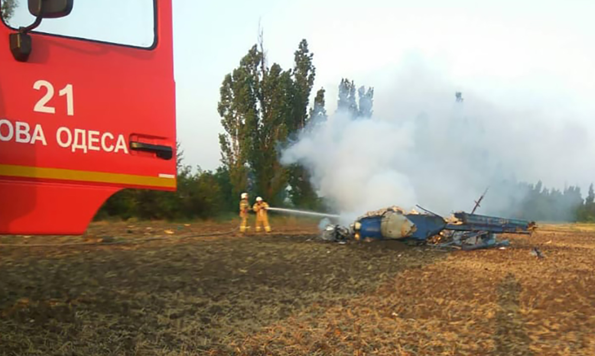В Николаевской области разбился вертолет Ми-2. Погибли два человека