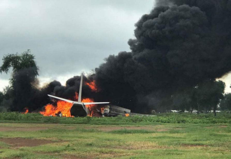 Грузовой самолет Ан-26 потерпел крушение в Южном Судане