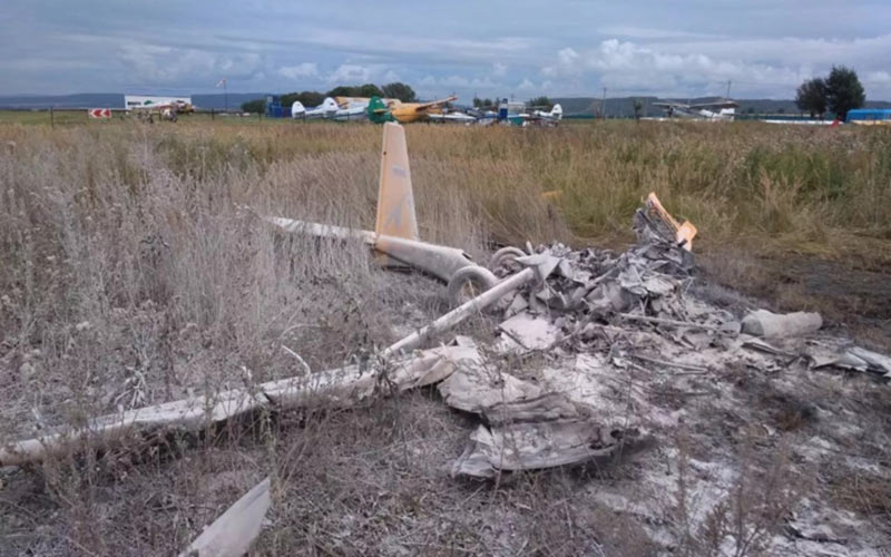 В России разбился самолет А-22. Пилот погиб.