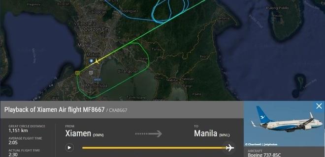 Боинг 737-800 в Маниле совершил жесткую посадку, потеряв двигатель