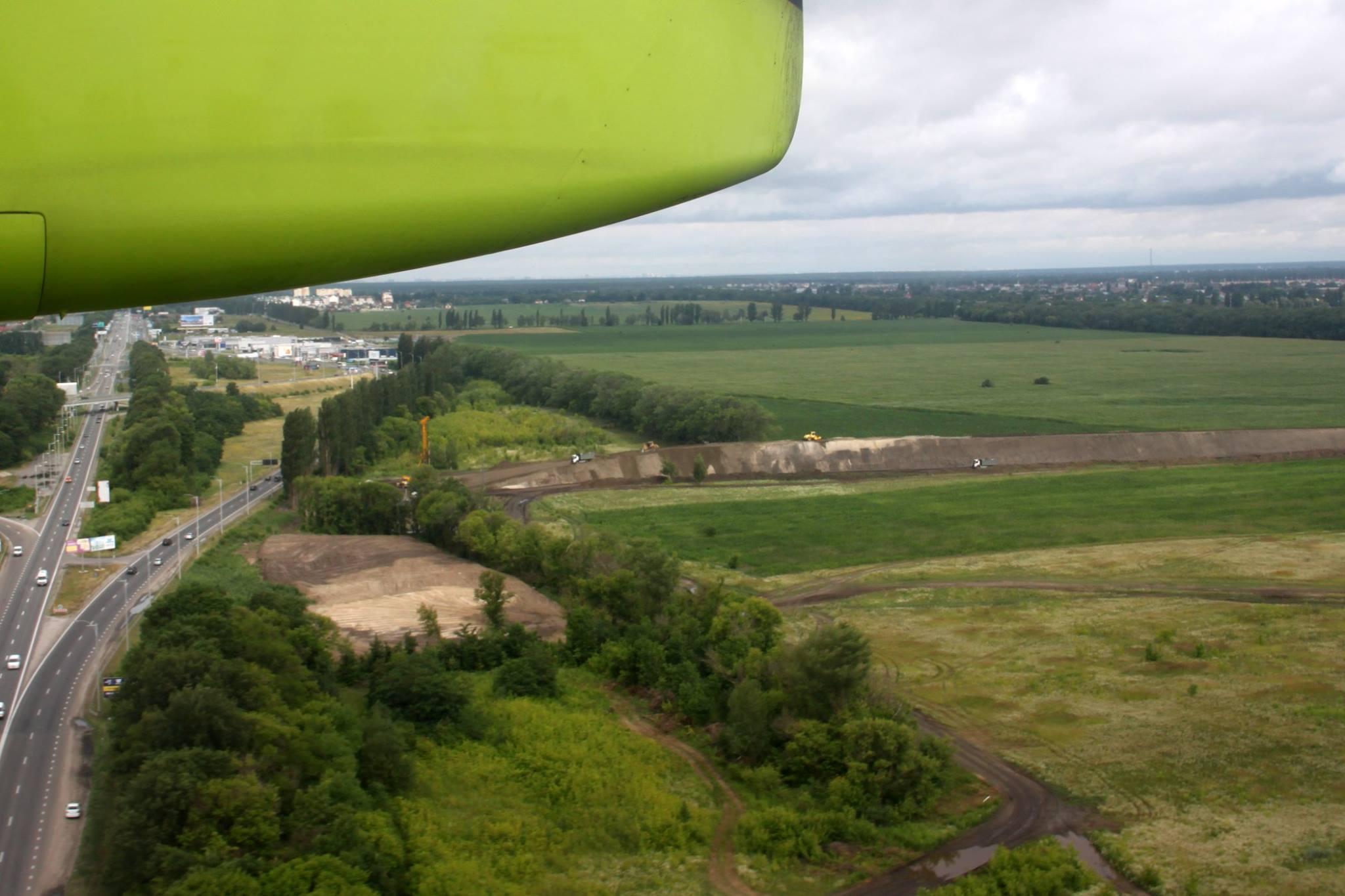 Cвежие фото о ходе строительства железнодорожной ветки в аэропорт Борисполь