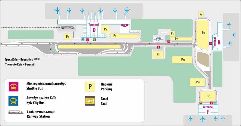 """Информация для пассажиров рейсов, перенесенных из аэропорта """"Киев"""" в МА """"Борисполь"""""""