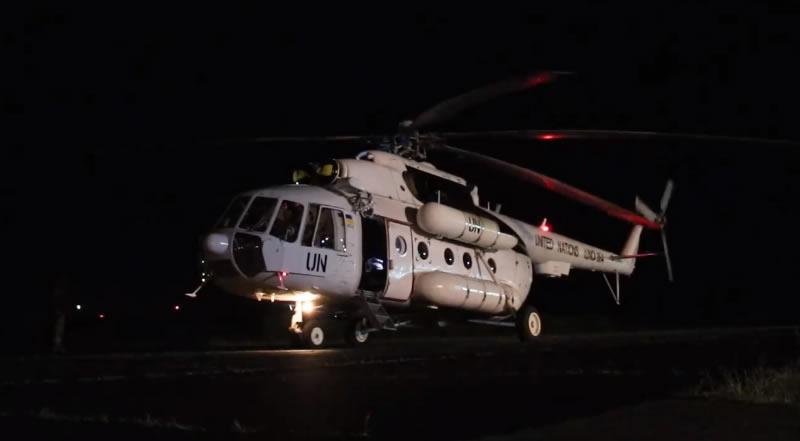 Украинские летчики в Конго оттачивают мастерство во время ночных полетов