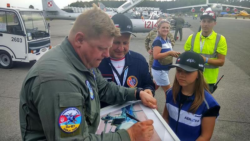 Пилотаж украинского летчика признали лучшим в Гдыне