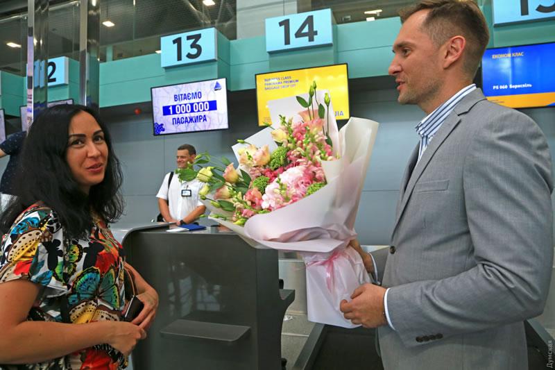 Одесский аэропорт обслужил миллионного пассажира с начала года