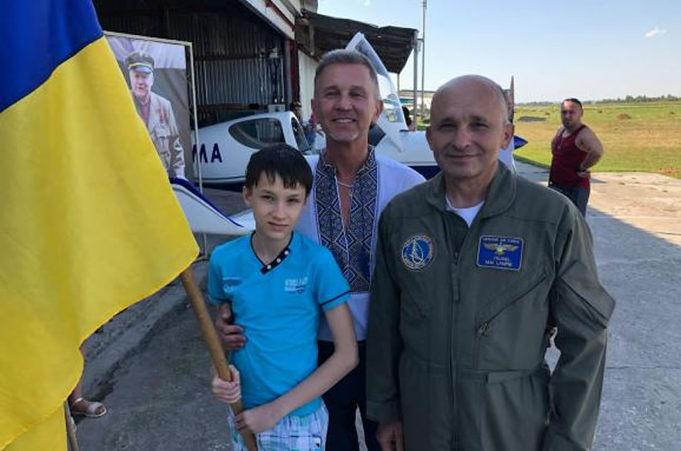 На Прикарпатье состоялся полет в честь легендарного боя УПА под Космачем