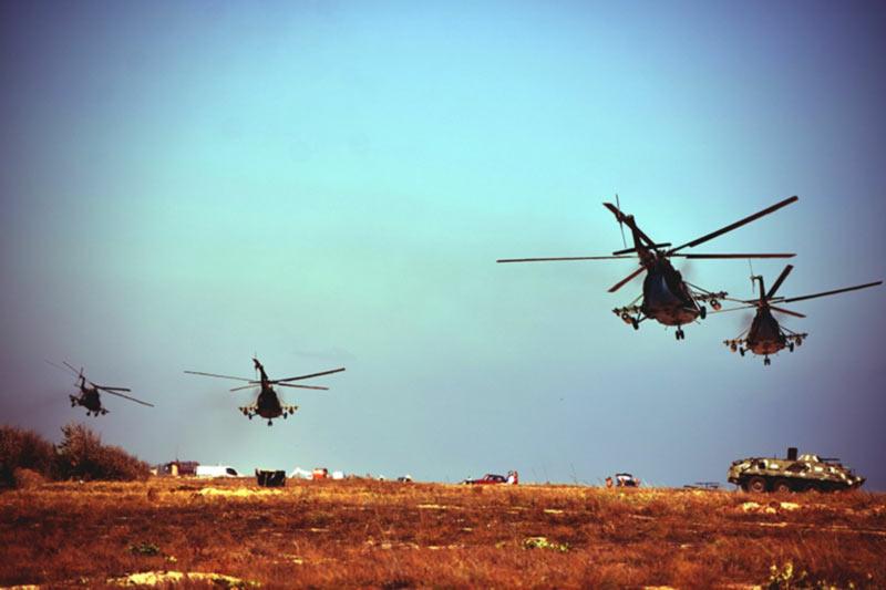 Морская пехота и авиация Сухопутных войск в совместных действиях на Азовском побережье (фоторепортаж)