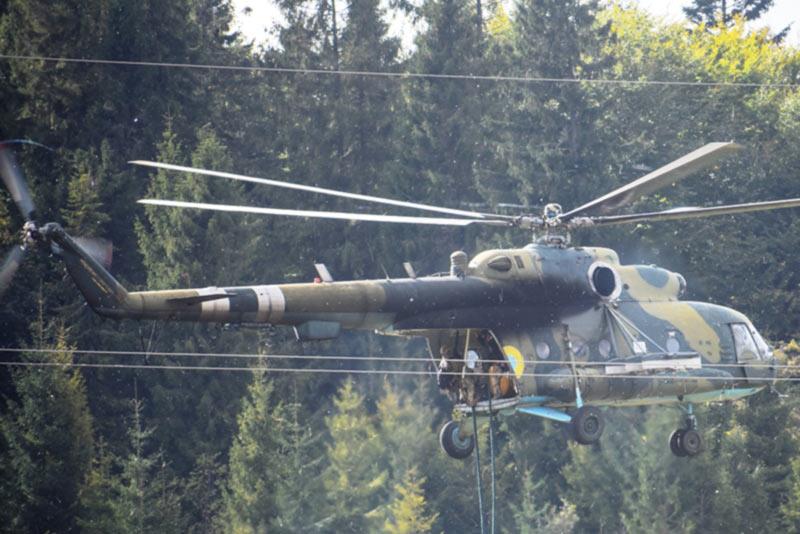«Козацкая воля - 2018». Десант под прикрытием Ми-24 выполнил задачи в горной местности