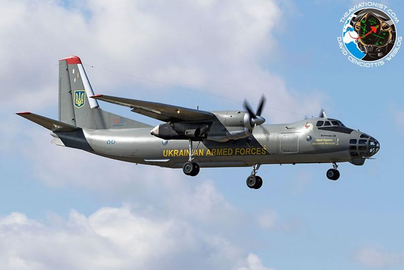 Украинский Ан-30Б провел полеты над Италией