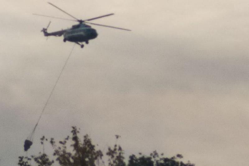 Под Харьковом авиация тушила крупный пожар