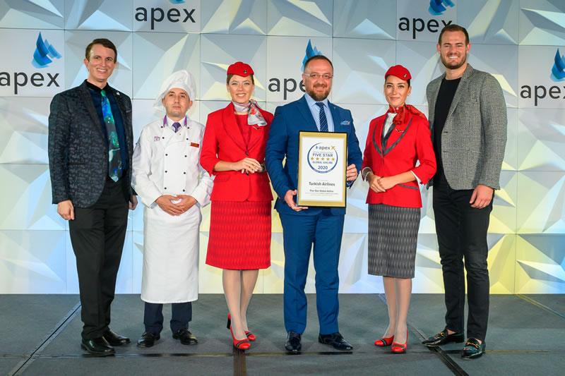 Авиакомпания Turkish Airlines получила премию APEX в номинации «Пятизвёздочная международная авиакомпания 2020 года»