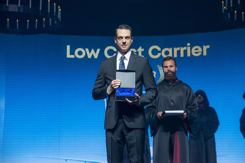 WIZZ AIR получила звание «Лучшего лоу-кост авиаперевозчика года» во время церемонии Aviation Industry Awards Europe