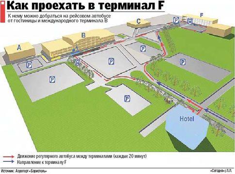 В воскресенье в «Борисполе» откроют терминал F