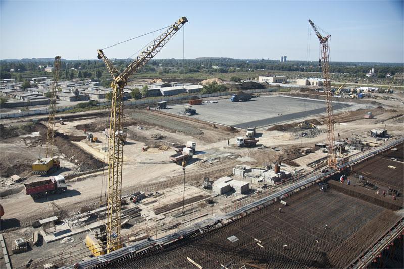 В Донецком аэропорту завершено бетонирование эстакады терминала