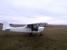 Украинской армии на нужды антитеррористической операции подарили легкомоторный самолет.