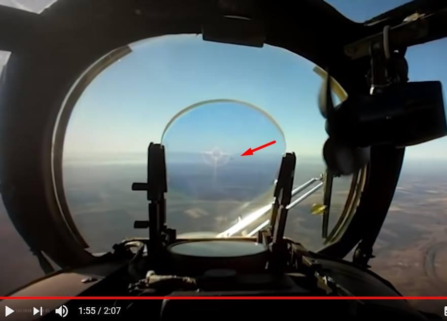 Опубликовано видео уничтожения российского БПЛА