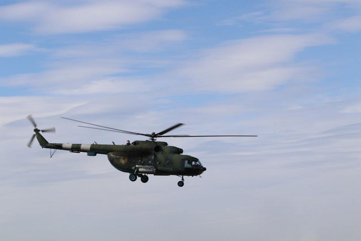 В Донецкой области осуществляли авианаведение вертолета Ми-8 на условного противника