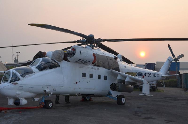 Украина отправила в Либерию вертолетный отряд