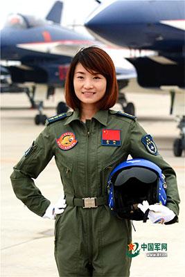 В Китае разбилась женщина-пилот во время полета на истребителе