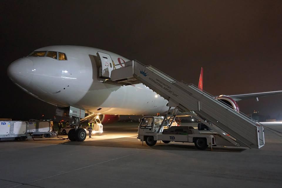 В аэропорт Львов прилетал редкий Boeing