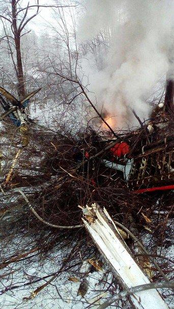 В РФ между домами упал самолет Ан-2.