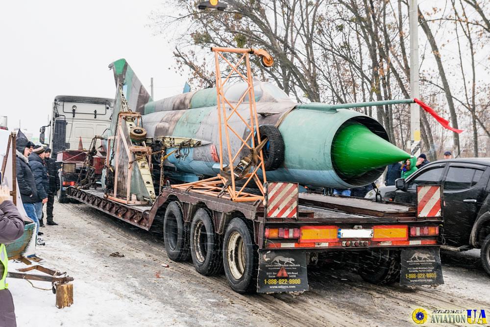 Музей тяжелой бомбардировочной авиации в Полтаве пополнился МиГ-21