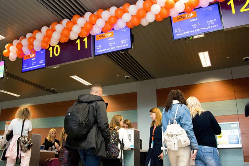 Торжественное открытие рейса Львов-Париж