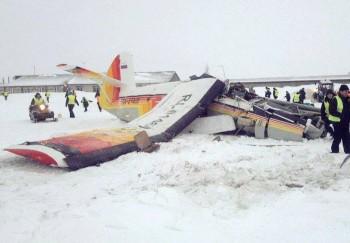 В России на взлете разбился самолет Ан-2